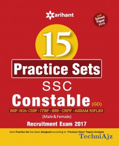 15 Practice Sets SSC Constable (GD) Entrance Exam 2017(Paperback)