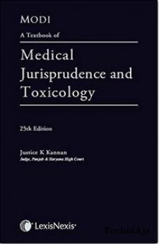 Modi's - A Textbook of Medical Jurisprudence and Toxilogy(Hardcover)
