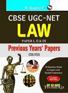 CBSE UGC- NET LAW Previous Years Paper (I, II & III) (Solved)(Paperback)