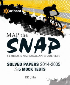 Map the SNAP Symbiosis National Aptitude Test 5 Mock Tests & Solved Papers (2014- 2005)(Paperback)