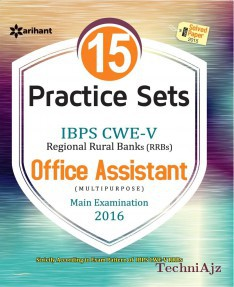 15 Practice Sets IBPS CWE- V (RRBs) Office Assistant Multipurpose Main Examination 2016(Paperback)