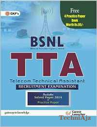 BSNL TTA (Telecom Technical Assistant) Guide includes free Practice Paper: Combo - Old Edition