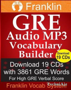 Franklin GRE Audio MP3 Vocabulary Builder: Download 19 CDs with 3861 GRE Words for High GRE Verbal Score(Paperback)