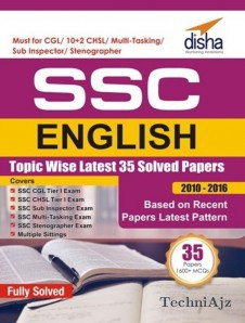 SSC English Topic- wise LATEST 35 Solved Papers (2010- 2016)(Paperback)