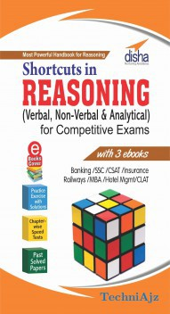 Shortcuts in Reasoning (Verbal & Non- Verbal) for Competitive Exams with 3 Ebooks(Paperback)