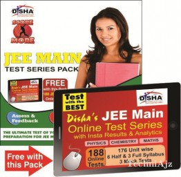 SCORE MORE- JEE MAIN TEST SERIES PACK (10 Mock Tests with Solutions) with 188 Online Tests of PCM worth Rs 999/- FREE(Paperback)