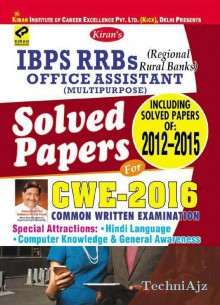 Gramin Bank Office Assistant (clerk) Solved Papers For Cwe- 2016 Ibps Rrbs English(Paperback)