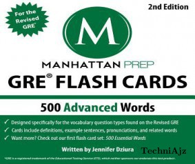 500 Advanced Words: GRE Vocabulary Flash Cards(Hardcover)