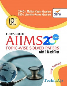 AIIMS 20 years Topic- wise Solved Papers (1997- 2016) with 1 Mock Test(Paperback)