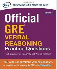 Official GRE Verbal Reasoning Practice Questions(Paperback)