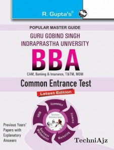 GGSIPU: BBA Entrance Exam Guide(Paperback)