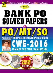 Kiran's Bank PO Solved Papers for PO/MT & SO Probationary Officer /Management Trainee/Specialist Officer (CWE- 2015) Common Written Examination English(Paperback)