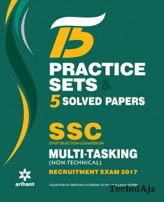 15 Practice Sets & 5 Solved Papers SSC Multi- tasking (Non- Technical) Group 'C' Recruitment Exam 2017(Paperback)