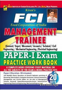 FCI (Food Corporation of India) Management Trainee Paper I Exam Practice Work Book(Paperback)