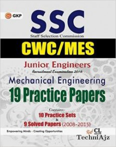 SSC Junior Engineers CPWD/CWC/MES Mechanical Engineering 19 Practice Sets and 9 Solved Papers 2008-2015