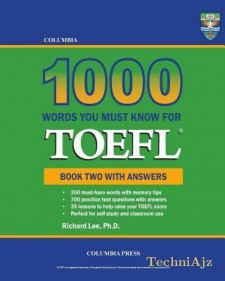 Columbia 1000 Words You Must Know for TOEFL: Book Two with Answers(Paperback)
