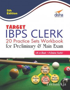 Target IBPS Clerk 20 Practice Sets Workbook for Preliminary & Main Exam (16 in Book+ 4 Online Tests) 5th English Edition(Paperback)