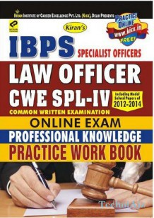 IBPS Specialist Officer CWE SPL- IV Law Officers Online Exam PWB English(Paperback)